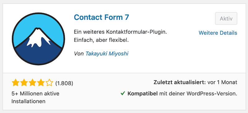 Contact Form 7 Plugin