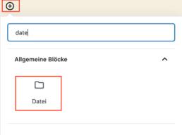 Gutenberg Editor Datei einbinden