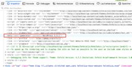 Quellcode Meta Generator Tag mit WordPress Version