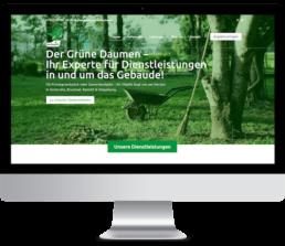 Webedsign Referenz Grüner Daumen Karlsruhe Website