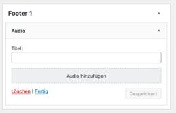 WordPress Audio Widget
