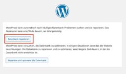 WordPress Datenbank reparieren