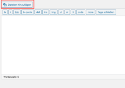 WordPress Classic Editor Datei hinzufügen