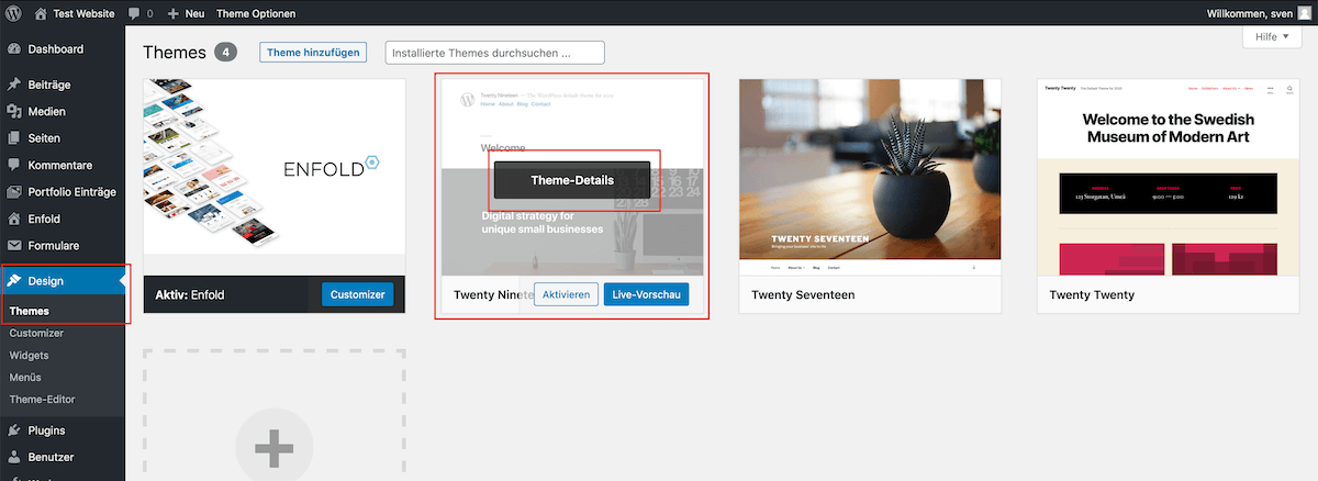WordPress Theme-Details hover