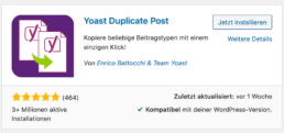 Yoast Duplicate Post Plugin im WordPress Plugin Verzeichnis